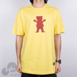 Camiseta Grizzly Og Bear Logo Amarela