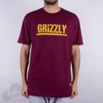 Camiseta Grizzly Stamped Vinho