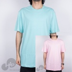 Camiseta Grizzly Tagless Azul E Rosa