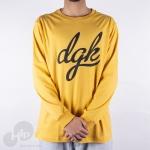 Camiseta Manga Longa Dgk Script Amarela