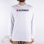 Camiseta Manga Longa Element Blazin Branca