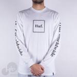Camiseta Manga Longa Huf Domestic Box Branca