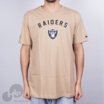 Camiseta New Era Essential Ground Oakland Raiders Bege