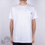 Camiseta Santa Cruz Pocket Simplified Hand Branca