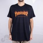 Camiseta Thrasher Flame Halftone Preta