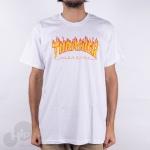 Camiseta Thrasher Flame Logo Large Branca