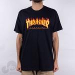 Camiseta Thrasher Flame Logo Large Preta