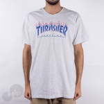 Camiseta Thrasher Patriot Cinza Claro