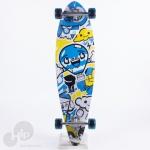 Longboard Creme Azul/Amarelo