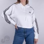 Moletom Cropped Adidas Ed7555 Branco