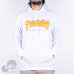 Moletom Thrasher Flame Branco