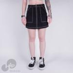 Saia Vans N The Know Skirt Preta