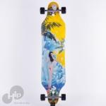 Skate Longboard Creme Onda Amarelo