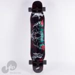 Skate Longboard Boundless Hannya Dark Preto