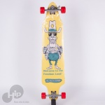 Skate Longboard Creme Blackzone Amarelo